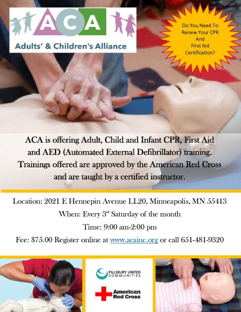 CPR and First Aid Certification at ACA